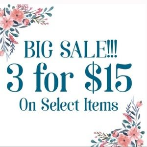 Look for the 🌸3/$15 across markets
